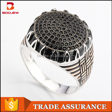 Factory Direct Wholesale Saudi Arabia Silver Men Hand Rings Costume Jewelry China
