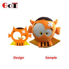 New Design Printed Embroidery Custom Stuffed Soft Plush Robot Toy