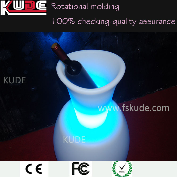 Kude Good price led lighting belvedere vodka bottle ice bucket