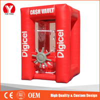 Portable inflatable money booth, money machine, cash cube
