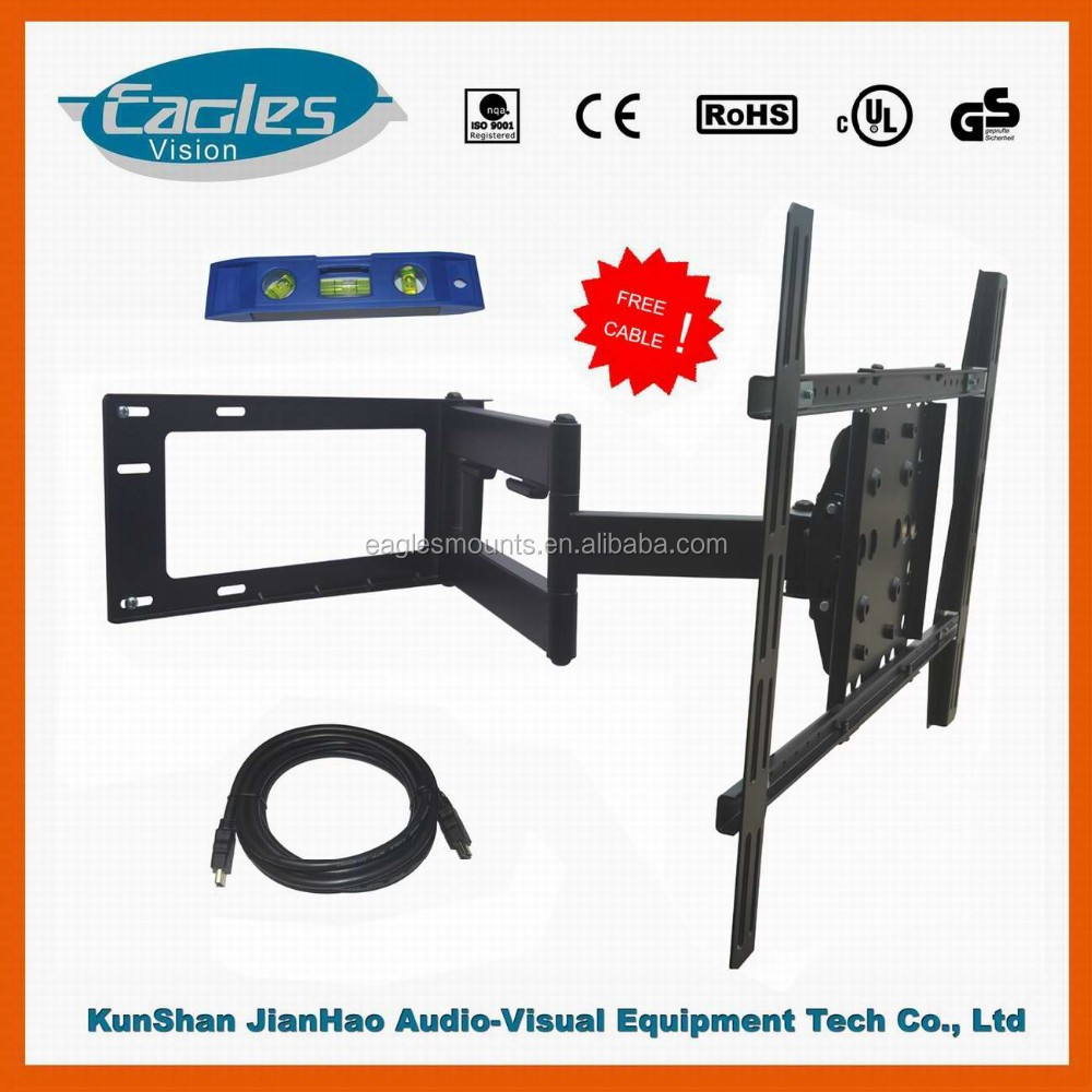 tv rack design,VESA600*400mm,Suit for 32'' to 65'' TV,Max load150lbs ,Powder black finishing