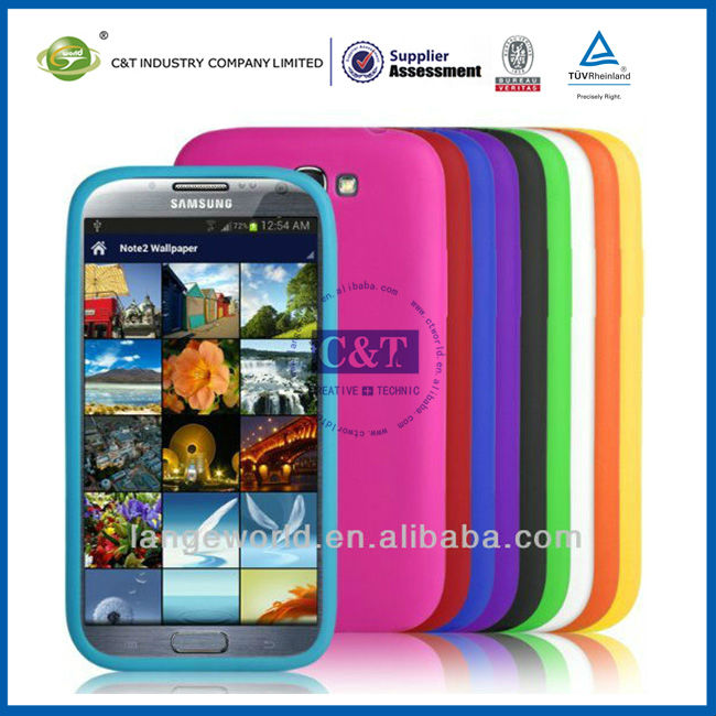 C&T silicon rubber cover case for samsung note 2 n7100