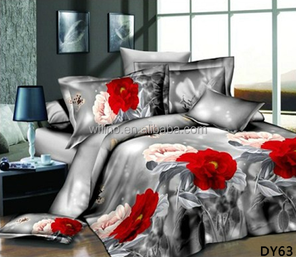 2015 hot new product luxury 3d bed cover set sheet set home textile