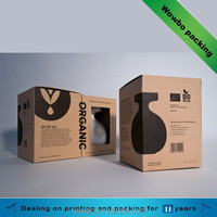 high quality kraft cardboard ceramics packing box with window