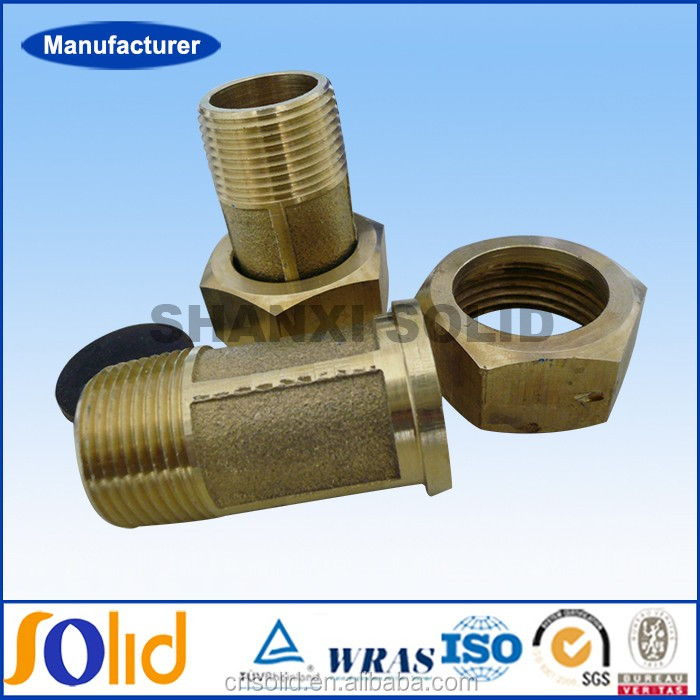 Forged brass compression water meter tail connector