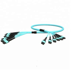 High quality OM4 8 core/12core/24 core fiber optic cable  MTP/MPO optic patch cord
