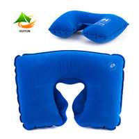 Soft U shape Pillow Neck Protection PVC Inflatable Pillow Cushion For Travel Car