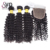 Top Quality Malaysian Curly Hair 3 Piece With Closure Full Cuticle Virgin Human Hair Products
