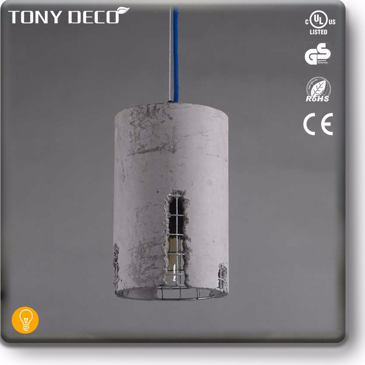 Shabby Chic Italy Style Cement Pendant Lamp For Church