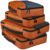 Packing Cubes 4pcs Set (Orange) - Travel Organizers