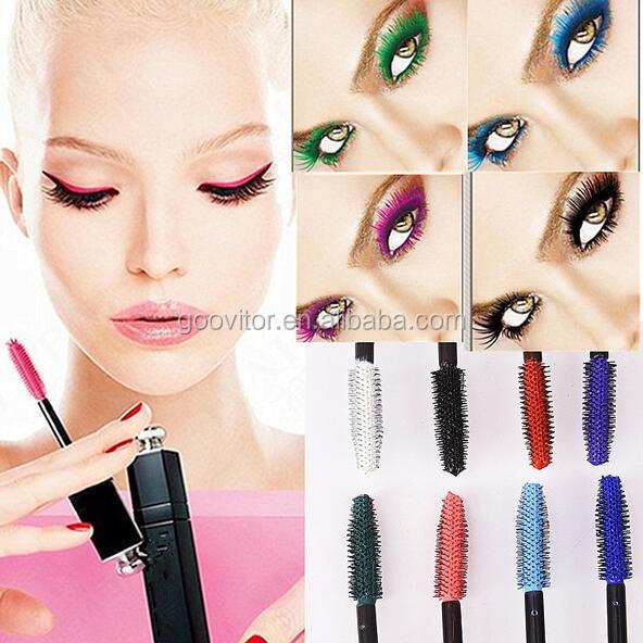 Waterproof 3D Color Mascara Long Lasting Makeup Colored Hair Mascara In Plastic Tube