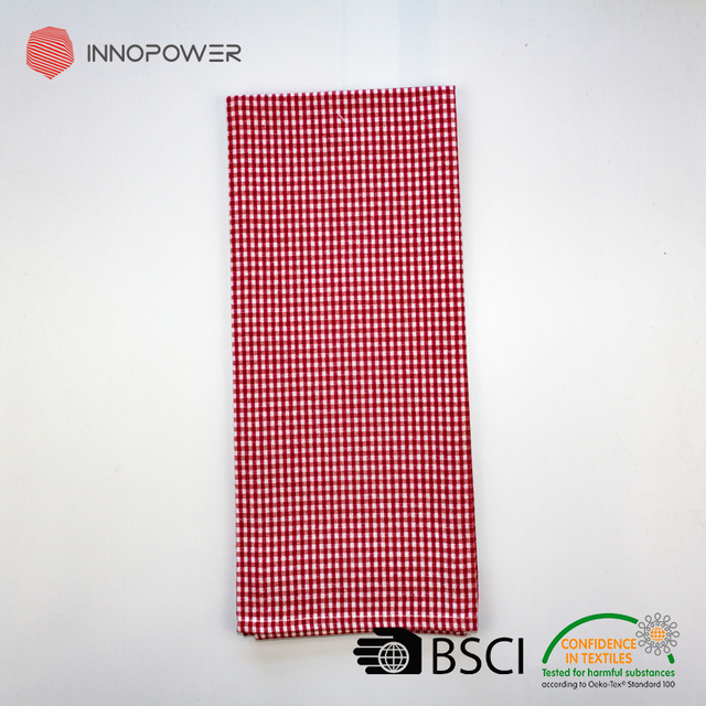 China manufacture 100% cotton Christmas red check kitchen towels