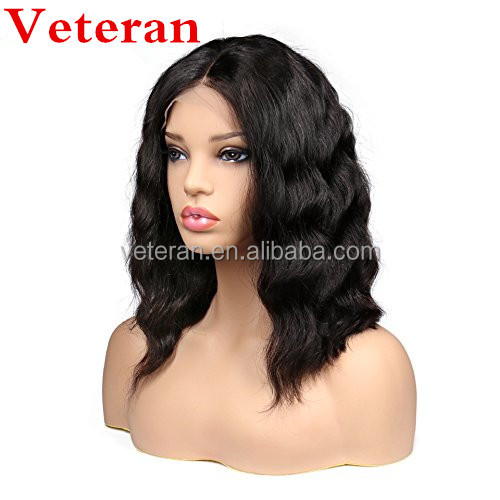 Veteran cheap 100% Virgin Remy real Human Hair wigs blonde full lace Natural Color body wave wig
