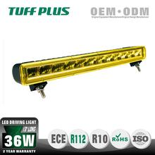 China factory IP68 waterproof 13'' 36W 4x4 offroad LED driving light bar