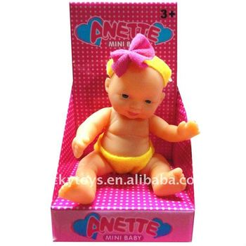 Emotional expression infant toy mini lovely baby doll