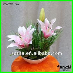 high quality decorative artificial flowers in pot