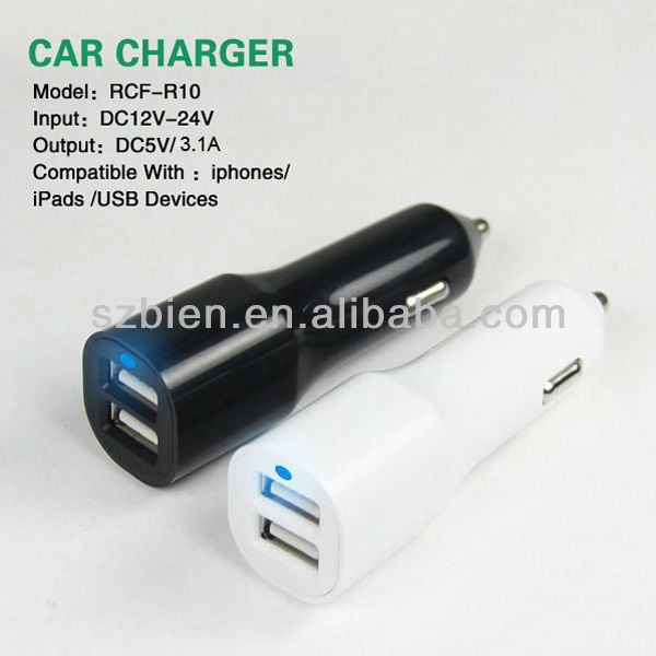 2013 NEW High quality Dual usb car charger
