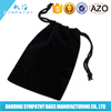China Manufacture Custom Promotional Top Quality Black Cotton Drawstring Bag