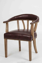 European style OAK wedding chair solid wood arm dining chairs