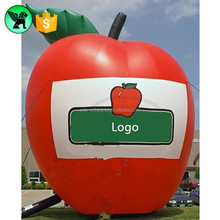 5m Giant Inflatable Apple Customized Promotional Fruit Inflatable For Sale A2099