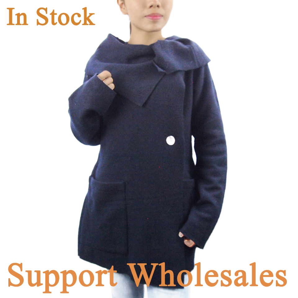 China supplier OEM popular design winter new loose wool coat design for girls
