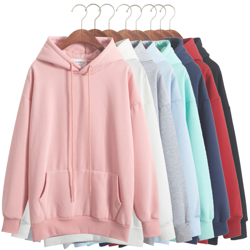 Wholesale custom Hooded Drawstring Basic Sweatshirt womens athletic hoodies Fashion pullover Sportswear