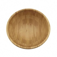 New style luxury Paint bottom Round Reusable bamboo fruit bowl Unbreakable Bamboo Fiber Salad Bowl