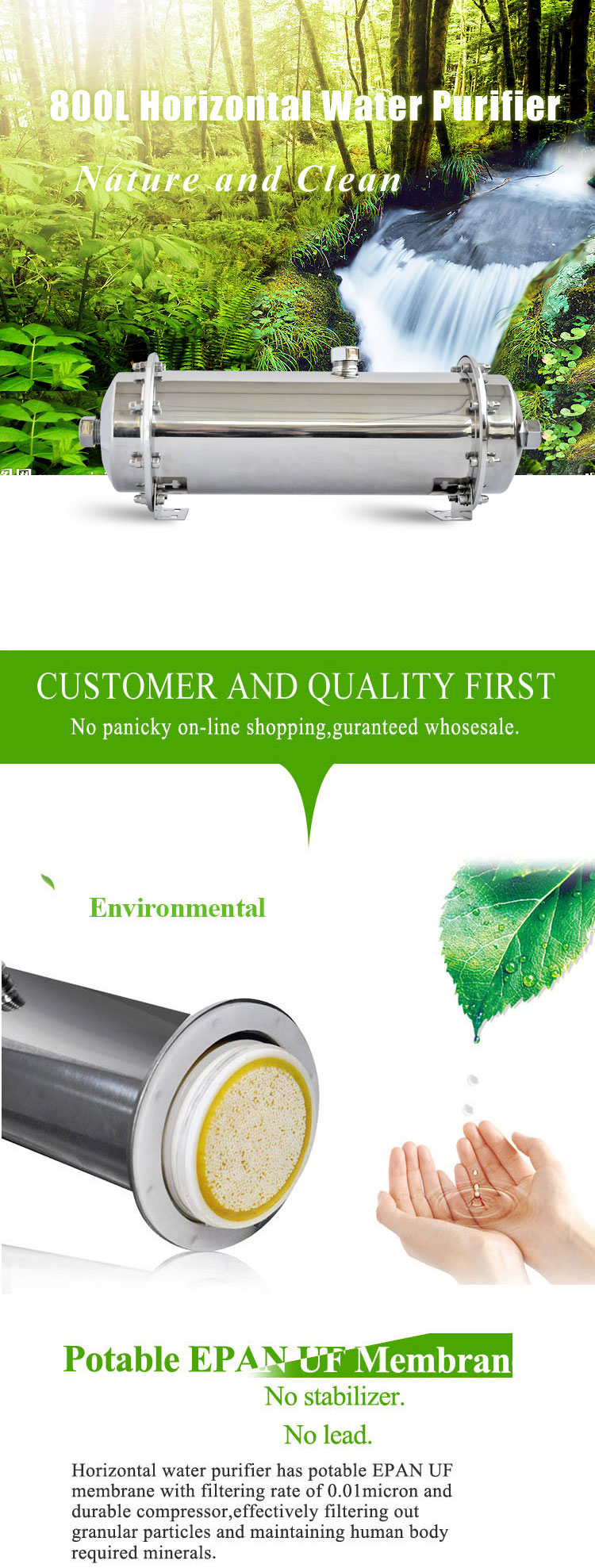 800l Ro Water Filter Purifier Machines For Home
