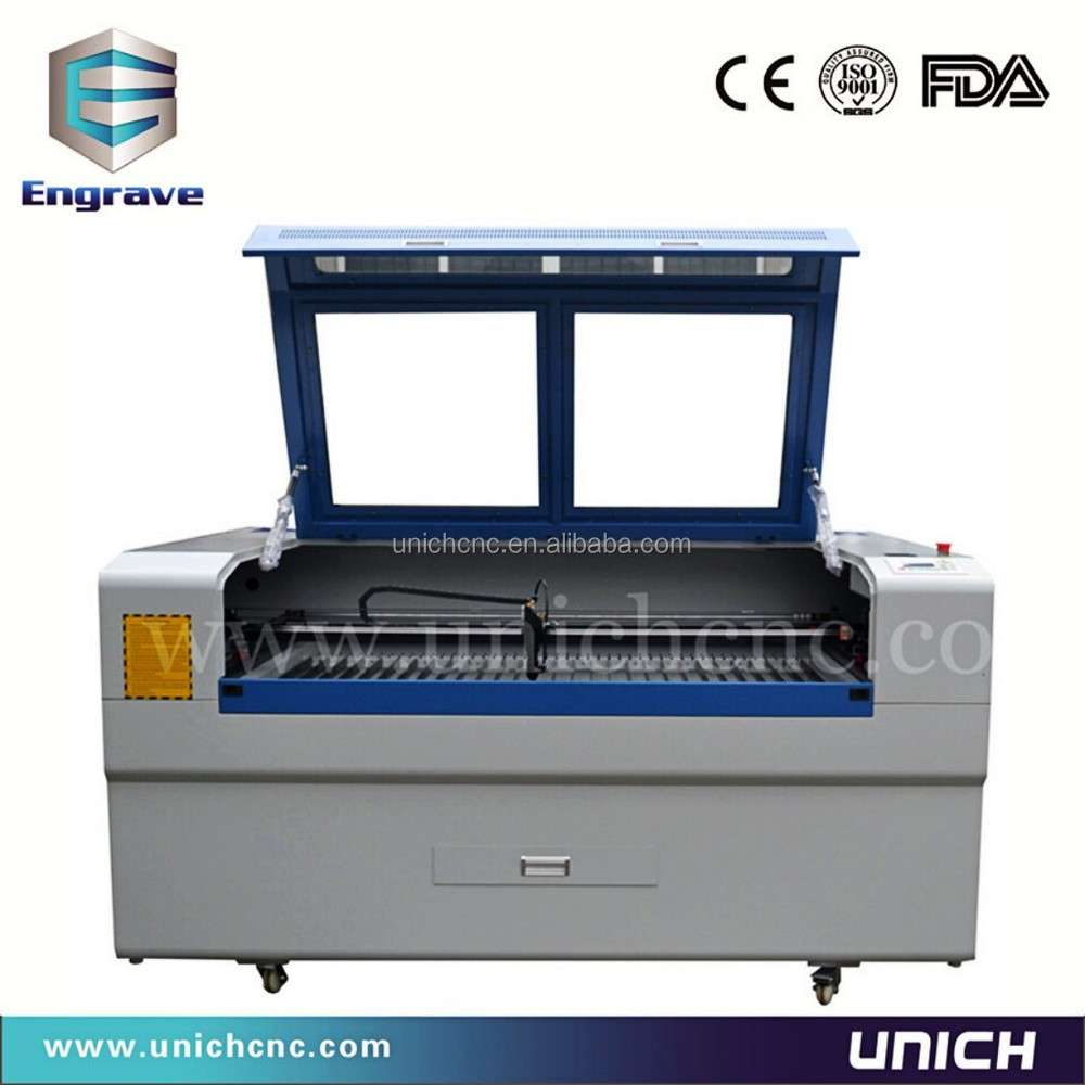 High speed!!! laser cutting machine 1610 Unich fabric laser cutting machine/laser glass printing machine