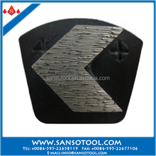 Sanso Trapezoid Grinding Block with Double Pins Arrow Segment Grinding Plate for Concrete Polishing