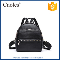 Hot style genuine leather Day Backpack with factory wholesale