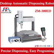 Factory Price Automatic Glue Dispenser ZM-300ED Robot Glue Dispensing Machine for Solder Paste, Hot Melt Glue,UV,Resin,etc.