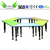 Nursery School Furniture Colorful Adjustable Popular Kids Study Table