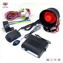 Sensivity adjustment shock sensor one way car alarm system