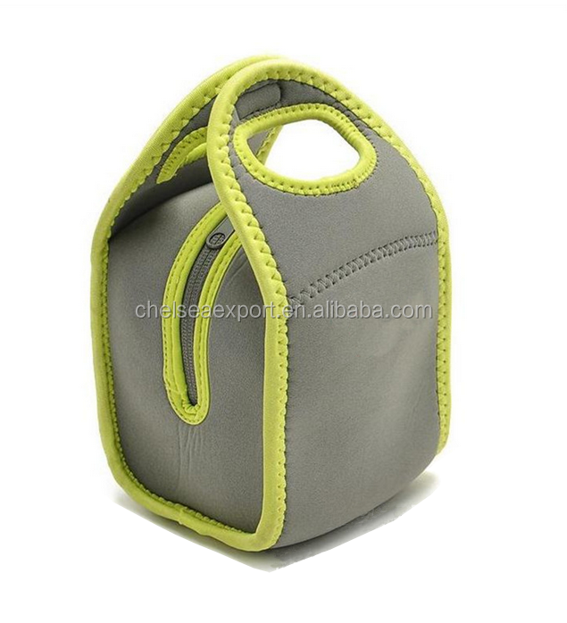 Portable womens neoprene lunch bag