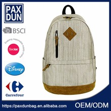 Custom Brand Classical Quality Plain Color Backpack
