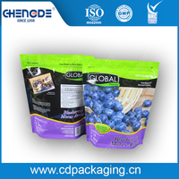 Global premier blackberry fruit packaging bag with zipper or doypack with zipper with 10 colors printing