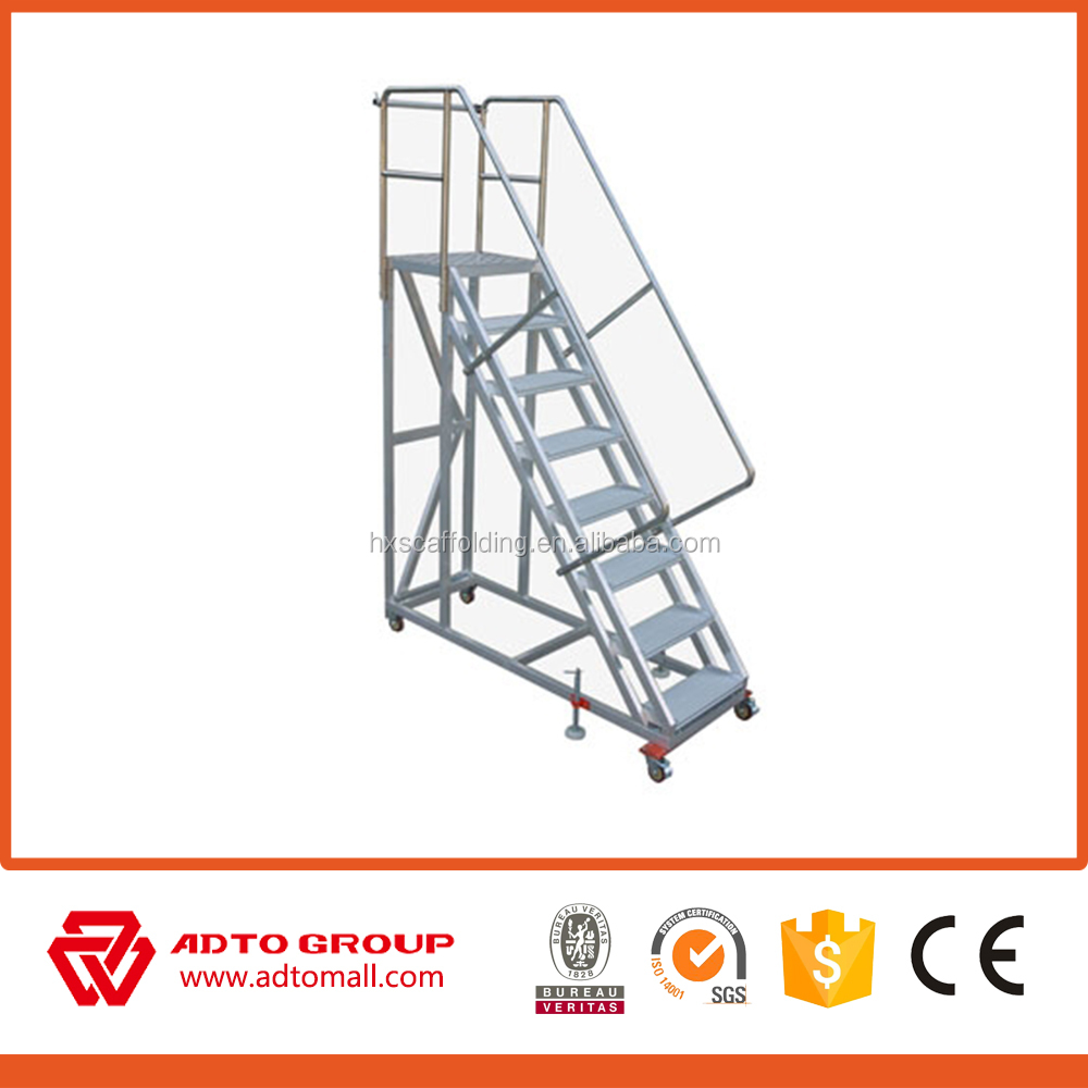 Portable Aluminum Stairs,fold Up Stairs,compact Aluminum Folding Ladder  Stairs