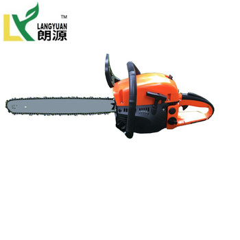 Chinese factory 58cc gasoline chainsaw recoil starter chain saw for sale
