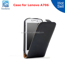 Mix Color Flip Cover Ultra Slim Leather Case for Lenovo A706