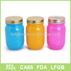 Colorfu16OZ glass mason jars with tinplate lid