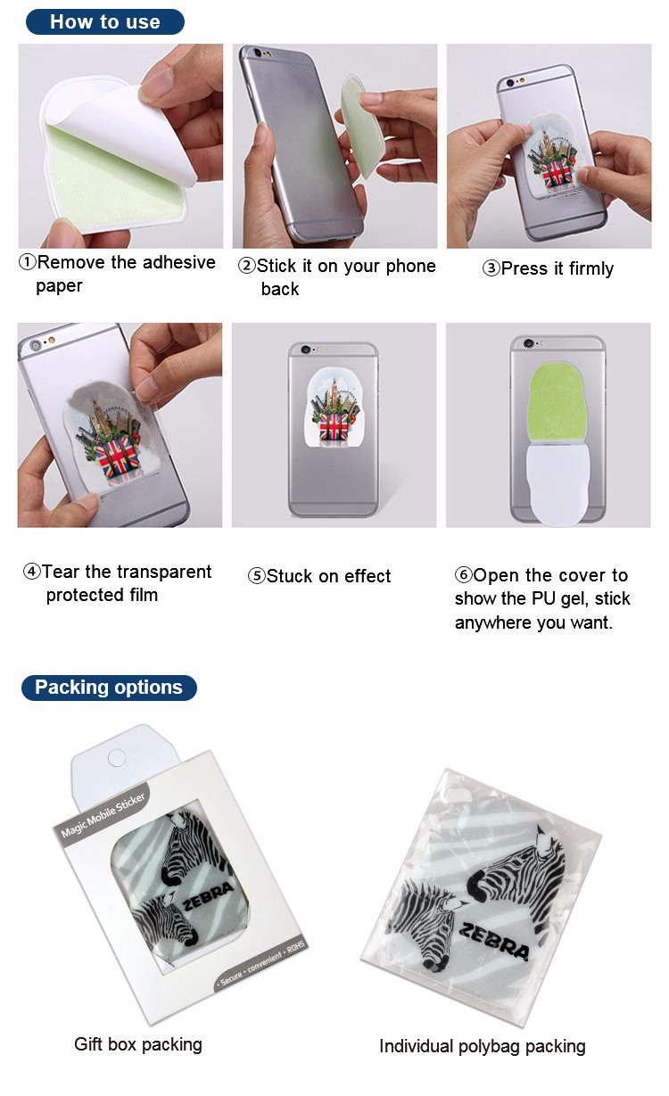 Promotion Gift Bulk Full Colors Sticky Note Magic Sticky Phone Holder
