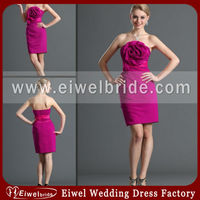 6691 New Strapless Taffeta Mother of the Bride Dresses Lace Knee Length