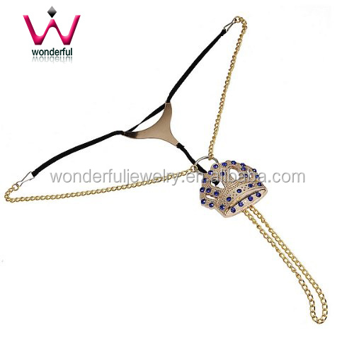 Beautiful Vaginal Jewelry Sex Toys Gold Chain For Wonmen