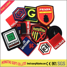 High Quality Customized rubber garment label/ standard woven label