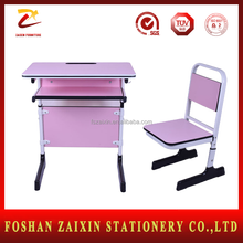 China Modern School Furniture Supplies Attached School Desks and Chair