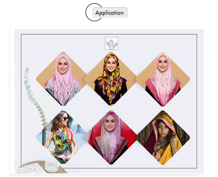 High quality scarf hijab printing scarves shawl malaysia women digital print custom scarf square