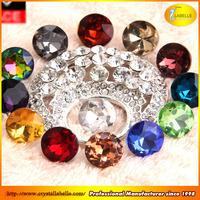 Crystal Rhinestone Button Shank Glass Sewing Button