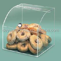 Custom acrylic bread box/ Acrylic candy box for package