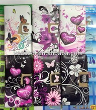 Butterfly Flowers mobile phone Leather Case for Samsung Galaxy S5 i9600 Case